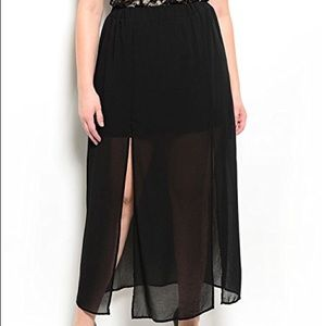 Target brand Plus Size Sheer Chiffon Maxi Skirt